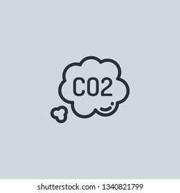 Outline co2 vector icon. Co2 illustration for web, mobile apps, design. Co2 vector symbol.