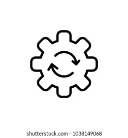 Outline Cogwheel Rotation Icon