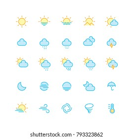 Outline Color Weather Icons