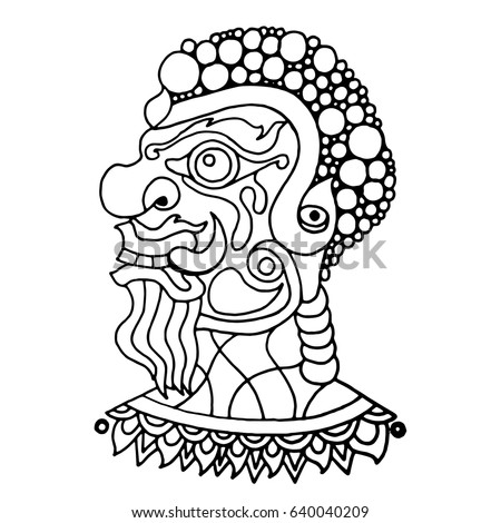 Outline Coloring Pages Giant Thailand Stock Vector Royalty Free