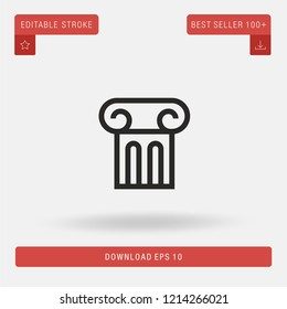 Outline Column vector icon. Modern, simple, isolated, flat best quality icon for web site designs or mobile apps. Vector illustration EPS 10.