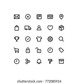 Outline Commerce Business Icons
