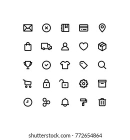 Outline Commerce Icons