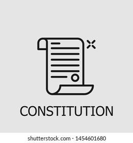 Outline constitution vector icon. Constitution illustration for web, mobile apps, design. Constitution vector symbol.