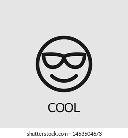 Outline cool vector icon. Cool illustration for web, mobile apps, design. Cool vector symbol.