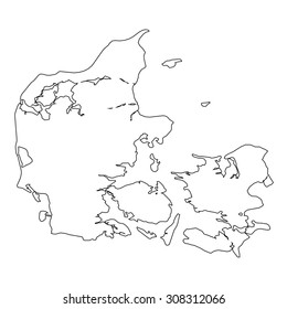 Outline of the country of Denmark