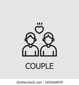 Outline couple vector icon. Couple illustration for web, mobile apps, design. Couple vector symbol.