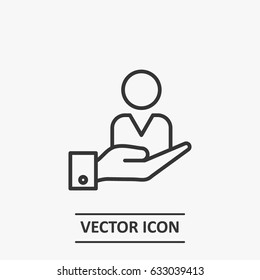 Outline Customer Retention  icon illustration vector symbol