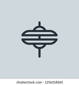 Outline cymbal vector icon. Cymbal illustration for web, mobile apps, design. Cymbal vector symbol.