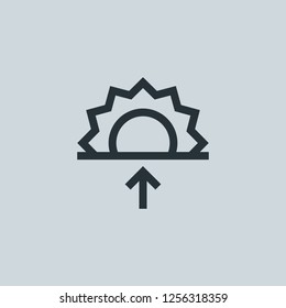 Outline dawn vector icon. Dawn illustration for web, mobile apps, design. Dawn vector symbol.