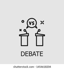 Outline debate vector icon. Debate illustration for web, mobile apps, design. Debate vector symbol.