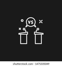 Outline debate vector icon. Debate illustration for web, mobile apps, design. Debate vector symbol.