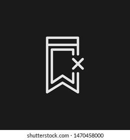 Outline decline vector icon. Decline illustration for web, mobile apps, design. Decline vector symbol.