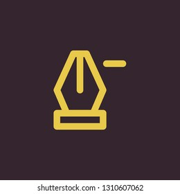 Outline delete anchor point vector icon. Delete anchor point illustration for web, mobile apps, design. Delete anchor point vector symbol.