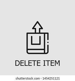 Outline delete item vector icon. Delete item illustration for web, mobile apps, design. Delete item vector symbol.
