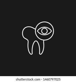 Outline dental checkup vector icon. Dental checkup illustration for web, mobile apps, design. Dental checkup vector symbol.