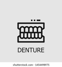 Outline denture vector icon. Denture illustration for web, mobile apps, design. Denture vector symbol.