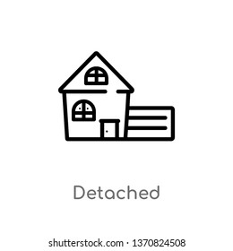 outline detached vector icon. isolated black simple line element illustration from buildings concept. editable vector stroke detached icon on white background