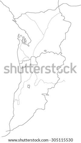 Outline Detailed Adelaide Australia Map Stock Vector Royalty Free