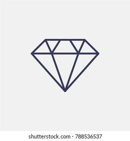 Outline diamond icon illustration isolated vector sign symbol