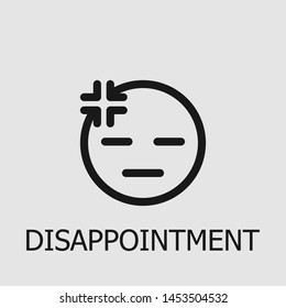 Outline disappointment vector icon. Disappointment illustration for web, mobile apps, design. Disappointment vector symbol.