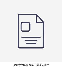 Outline document  icon illustration vector symbol