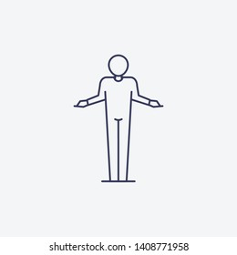 Outline I don't know icon illustration. isolated vector sign symbol
