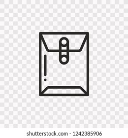 Outline Dossier icon. Vector illustration style is flat iconic symbol, black color, transparent background. Designed for web and software interfaces. Editable stroke. Eps10
