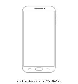 Outline drawing smartphone. Elegant thin line style design