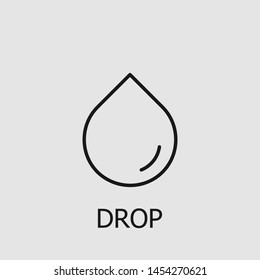 Outline drop vector icon. Drop illustration for web, mobile apps, design. Drop vector symbol.