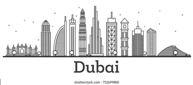 building outline stock vector illustration of skyline