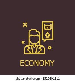 Outline economy vector icon. Economy illustration for web, mobile apps, design. Economy vector symbol.