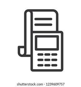 outline edc icon. transaction icon