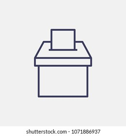 Outline election box icon illustration vector symbol