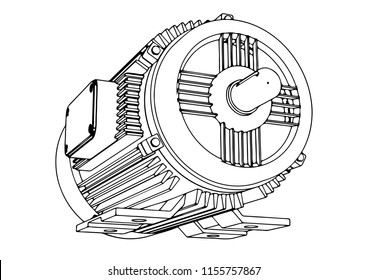 outline electric motor vector