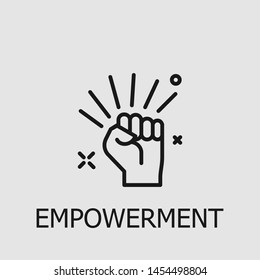 Outline empowerment vector icon. Empowerment illustration for web, mobile apps, design. Empowerment vector symbol.