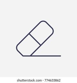 Outline eraser icon illustration vector symbol