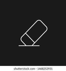 Outline eraser vector icon. Eraser illustration for web, mobile apps, design. Eraser vector symbol.