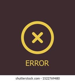 Outline error vector icon. Error illustration for web, mobile apps, design. Error vector symbol.