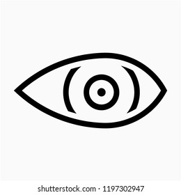 Outline eye pixel perfect vector icon