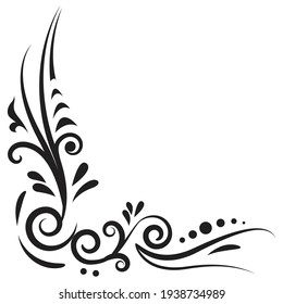 Outline floral pattern. Ornamental border for ribbons, fabric, wrapping, wallpaper, tape. Decorative design element for background and cover. Art work.