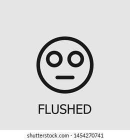 Outline flushed vector icon. Flushed illustration for web, mobile apps, design. Flushed vector symbol.