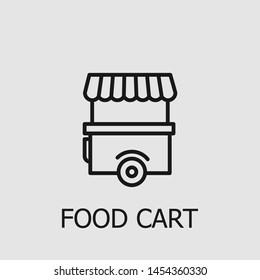 Outline food cart vector icon. Food cart illustration for web, mobile apps, design. Food cart vector symbol.