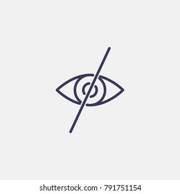 Outline forbidden to look icon illustration isolated vector sign symbol