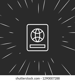 Outline foreign passport icon illustration isolated vector sign symbol