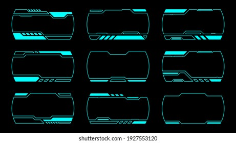 Outline frame futuristic modern interface hud.