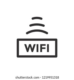 outline free wifi access icon design illustration