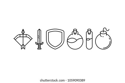 Outline Game Color Icons