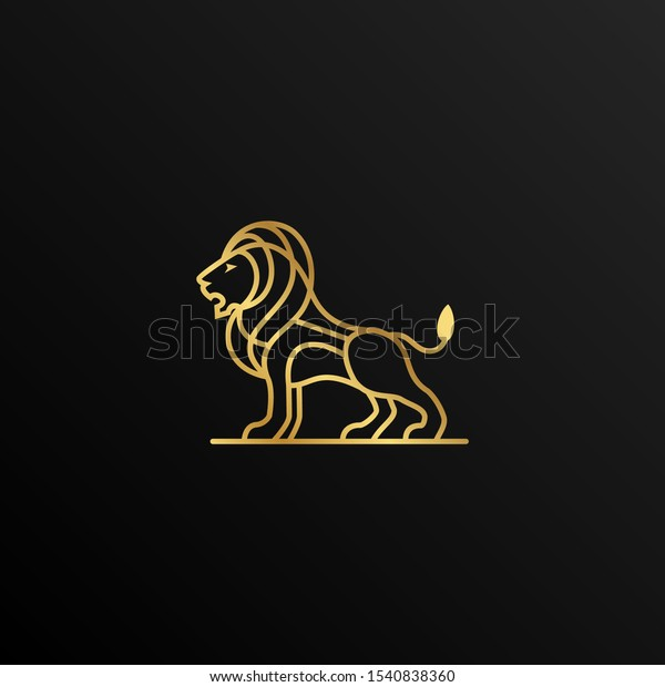 Outline Gold Lion Creative Logo Design Stock Vector Royalty Free 1540838360 Shop our gold lion rings selection from the world's finest dealers on 1stdibs. https www shutterstock com image vector outline gold lion creative logo design 1540838360