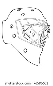 Hockey helmet isolated images stock photos vectors shutterstock outline hockey mask on white background vector illustration maxwellsz